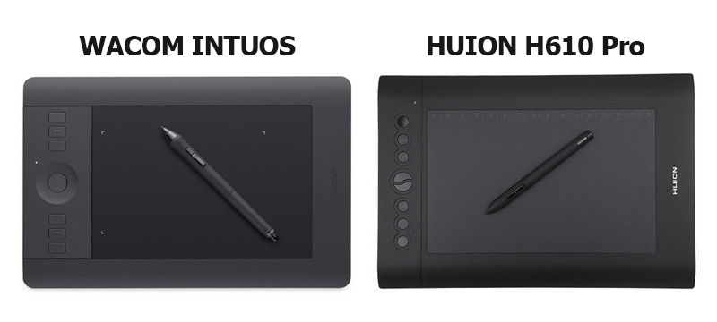 Wacom Vs Huion Tablet Side by Side